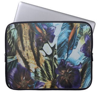 Floral and Abstract Design Laptop Sleeve