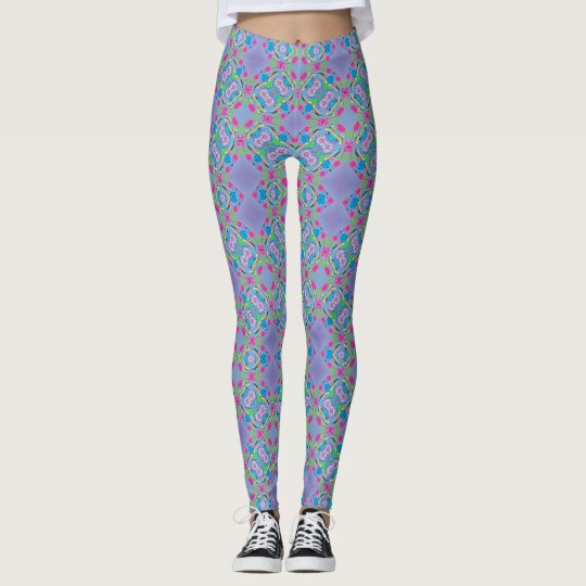 Floral and Diamond Leggings