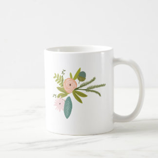 Floral and Fauna Basic White Mug