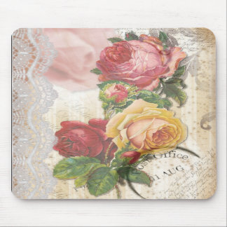 Floral and Lace Mousepad