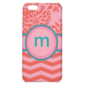 Floral and Stripes Monogram Speck Case Cover For iPhone 5C