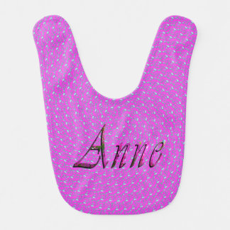 Floral Anne Name Logo, Bib