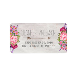 FLORAL ANTLERS | RUSTIC WEDDING ADDRESS LABELS