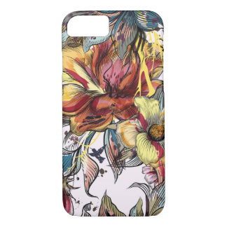 Floral Apple iPhone 7, Barely There Phone Case