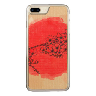 Floral Apple iPhone 7 Plus Slim Maple Wood Case