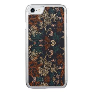 Floral Apple iPhone 7 Slim Maple Wood Case