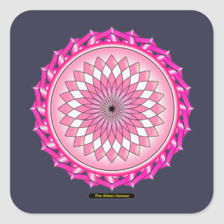 Floral Arc Reactor Square Sticker