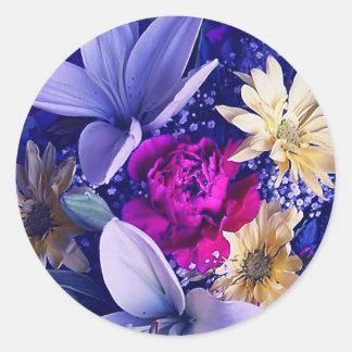 Floral Arrangement 313b Classic Round Sticker