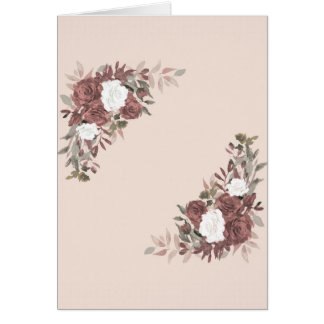 Floral Arrangement in Pink and Mauve Card