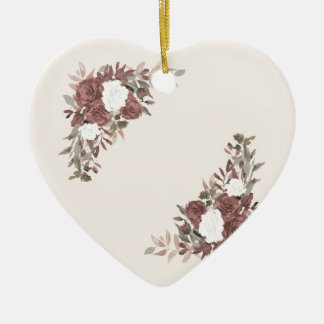 Floral Arrangement in Pink and Mauve Ceramic Ornament