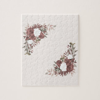 Floral Arrangement in Pink and Mauve Jigsaw Puzzle