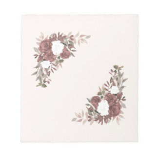 Floral Arrangement in Pink and Mauve Notepad