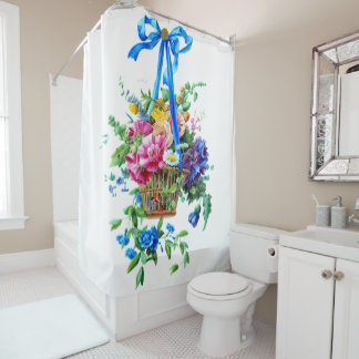 floral arrangement Watercolor Shower Curtain