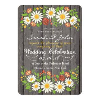 Floral Arrangement Wedding Invitation