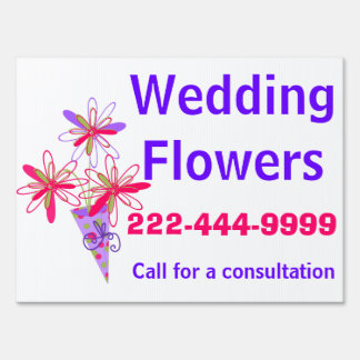 Floral Arranging Business Yard Sign