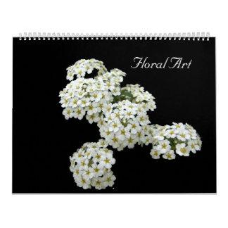 Floral Art 12 Month Calendar