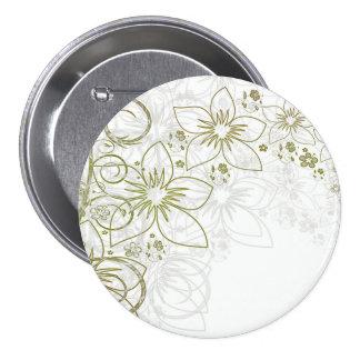 Floral Art Button