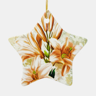 Floral, Art, Design, Beautiful, New, Fashion, Crea Ceramic Ornament