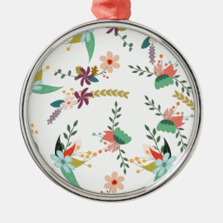 Floral, Art, Design, Beautiful, New, Fashion, Crea Metal Ornament