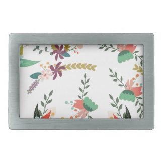 Floral, Art, Design, Beautiful, New, Fashion, Crea Rectangular Belt Buckle