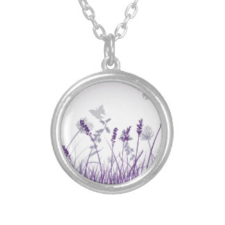 Floral, Art, Design, Beautiful, New, Fashion Silver Plated Necklace