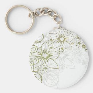 Floral Art Key Chain