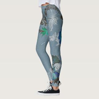 Floral Art Leggings - Blue Ferdinand