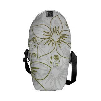 Floral Art Messenger Bags