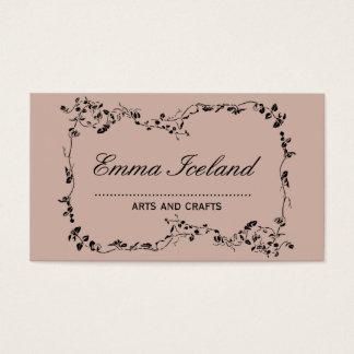 Floral art nouveau vintage rose business card