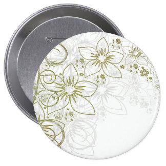 Floral Art Pinback Buttons