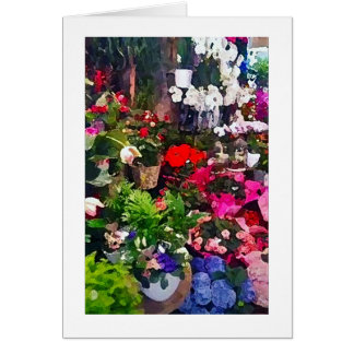 Floral Art Print Blank Note Card