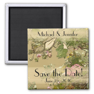 Floral Art Save the Date Magnet