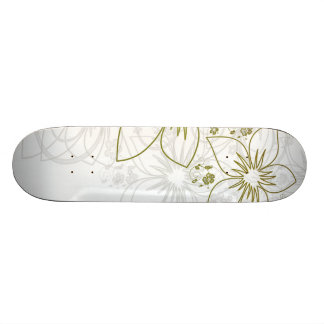 Floral Art Skateboard Deck
