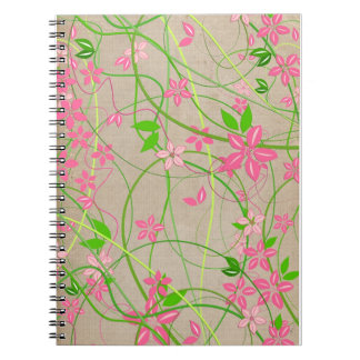 Floral artistic notebook
