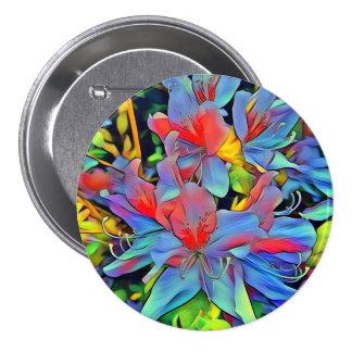 Floral ArtStudio wonderful flowers 3 Inch Round Button