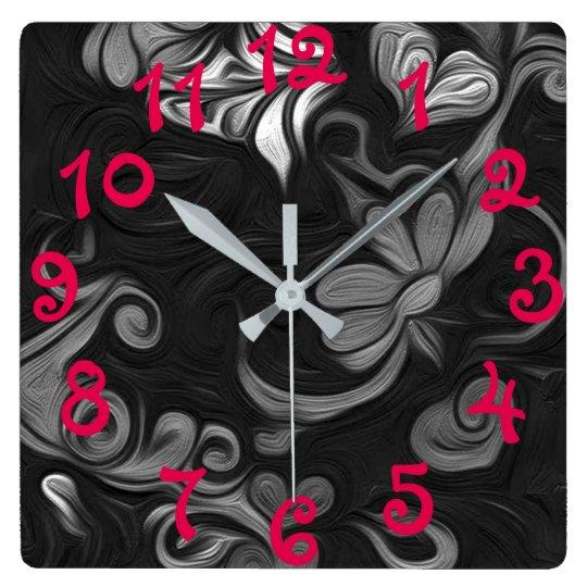 Floral artwork clock