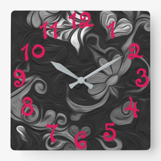 Floral artwork wall clock