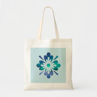 Floral Aurora Winter Northern Lights Tote Bag