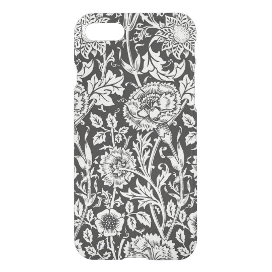 Floral B&W iPhone 7 Clear Case