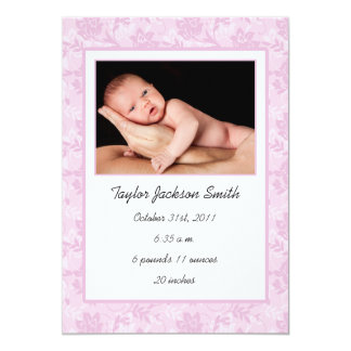 Floral Baby Announcement