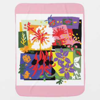 Floral - Baby blanket