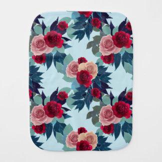 Floral Baby Burpie Blanket Burp Cloths