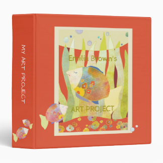 Floral Baby Fish Kids Art Project Binder