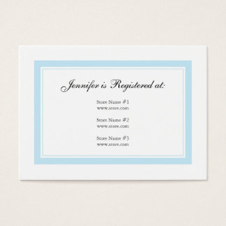 Floral Baby Registry Card - Baby Blue