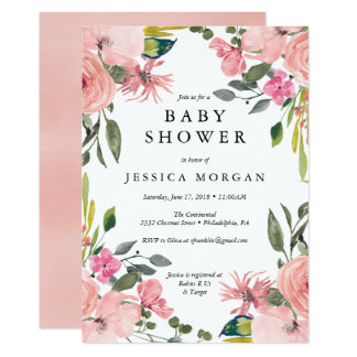 Floral Baby Shower Invitation Baby Shower Card