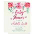 Floral Baby Shower Invitation, Baby Shower Invite
