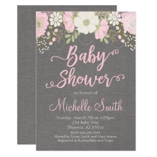 Floral Baby Shower Invitation, Boho Invitation