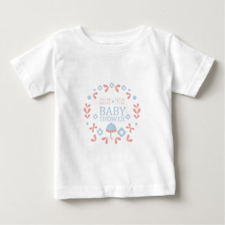 Floral Baby Shower Invitation Design Template Baby T-Shirt