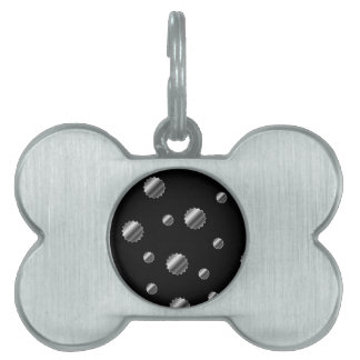 Floral background pet tags
