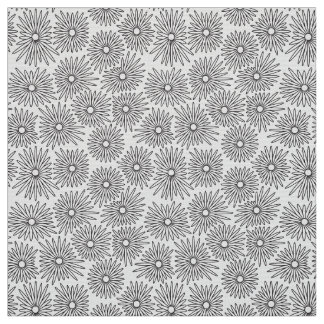 Floral background with white and black colors fabric